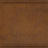 Brown Synthetic Leather with border — Stock Photo
