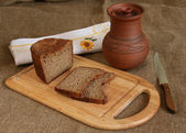Still life with home made bread — 图库照片