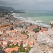 Seaside in Cefalu, Sicily, Italy - Stock Photo