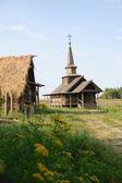 Rostov, Rusya ahşap kilise — Stok fotoğraf
