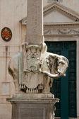 Obelisk of Santa Maria sopra Minerva by Bernini in Rome, Italy — Stock Photo
