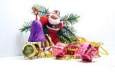 Santa Claus and gifts — Stock Photo