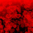 Vector de stock : Background of hearts