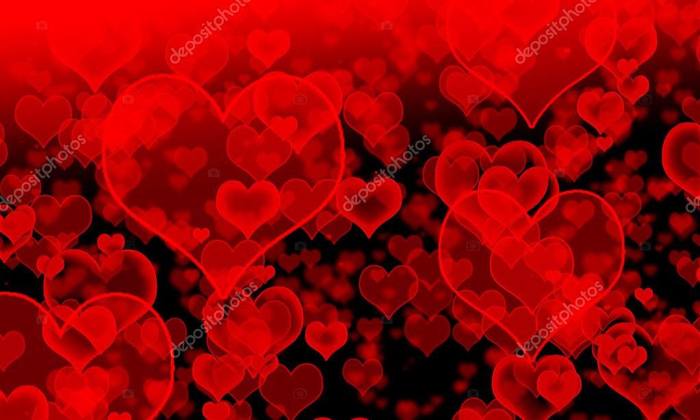 Background of red hearts  Stock Vector #8313664
