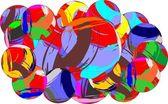 Art ball — Stock Vector