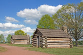 Soldiers Huts at Valley Forge — Stock Photo