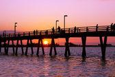 Fishing at Sunset — Stock Photo