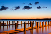 Sunrise at the Harbor — Stock Photo