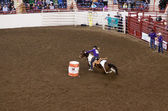 Barrel Racing at State Farm Show — Stock Photo