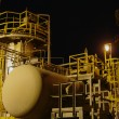 Stock Photo: Petrochemical plant in night