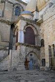 Insidan av kyrkan av den heliga graven i jerusalem — Stockfoto