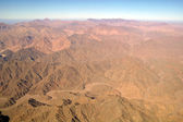 Aerial view desert and montain — Stock Photo