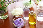 Bath salt with aromatherapy oil — Стоковое фото