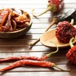 Assortment of chili peppers — Stockfoto #10636718
