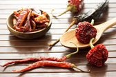 Assortment of chili peppers — Stock Photo