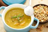 Zupa z soczewicy — Zdjęcie stockowe