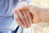 рука пенсионера — Стоковое фото