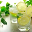 Foto Stock: Lemon water