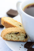 Biscotti with coffee — Stock Photo