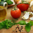 Stock Photo: Italian ingredients