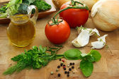 Italian ingredients — Stock Photo