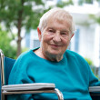 Happy senior lady in wheelchair — Stock Photo #8336618