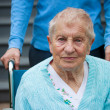 Senior lady in wheelchair — Stock Photo
