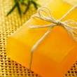 Stock Photo: Handmade yellow soap