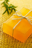 Handmade yellow soap — Stock Photo