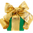 Green gift box — Foto Stock