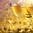 Christmas champagne — Stock Photo #8380092