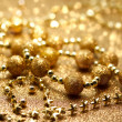 Christmas golden beads — Photo