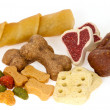 Stock Photo: Assortment of dog treats