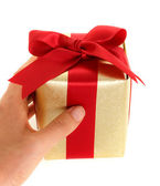 Hand holding gift box — Stock Photo