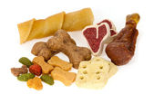 Assortment of dog treats — 图库照片