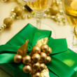 Royalty-Free Stock Photo: Christmas gift with champagne