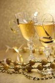 Champagne di natale — Foto Stock