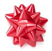 Red gift bow — Stockfoto
