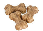 Three Dog Biscuits — Stock Photo