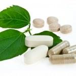 naturalne tabletki — Zdjęcie stockowe