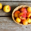 Foto Stock: Juicy peaches and apricots