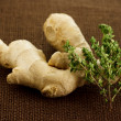 Stock Photo: Ginger and thyme