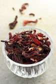 Dried hibiscus tea — Stock Photo