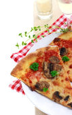 Mushroom Pizza — Stock Photo