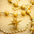 Christmas star with ornaments — Foto de Stock