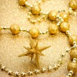 Christmas star with ornaments — Stock Photo