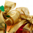 Stock Photo: Red and green gift boxes