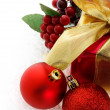 Red Christmas gift — Stockfoto #8554979