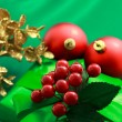Christmas green gift box — Foto Stock
