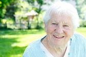 Happy senior lady — Stock Photo